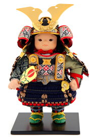 五月人形 幸一光 松崎人形 子供大将飾り 人形単品 翔 しょう 黒小札 紺糸威 YaekoProject 【2021年度新作】 h035-koi-5810