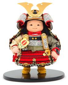 五月人形 幸一光 松崎人形 子供大将飾り 人形単品 月丸 つきまる 黒小札 赤糸威 【2021年度新作】 h035-koi-510a