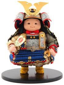 五月人形 幸一光 松崎人形 子供大将飾り 人形単品 星丸 ほしまる 黒小札 青糸威 【2021年度新作】 h035-koi-511a
