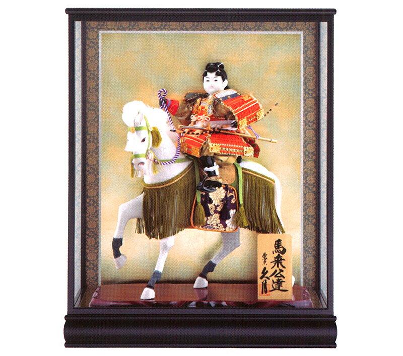 五月人形 久月 ケース飾り 武者人形 馬乗公達 8号 桂印8 【2018年度新作久月武者人形飾り】 h305-k-katurain8 K-140