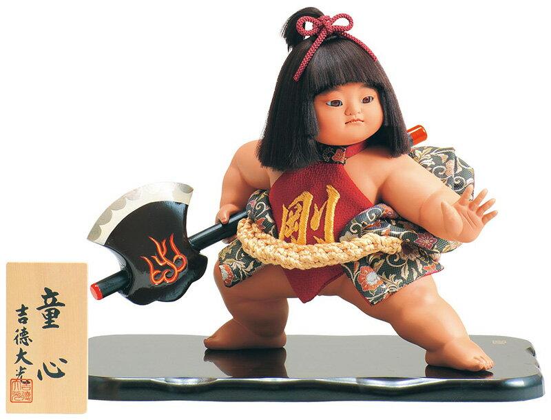 吉徳 五月人形 金太郎 浮世人形 ケース飾り 10号 童心 【2018年度新作】 h305-ys-503252 人形屋ホンポ