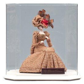 西洋人形 フランス人形 仏蘭西人形 ケース入り人形 寿喜代作 ビスクロマン ゴールド アクリルケース付 【2020年度新作】 sk-brk36