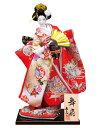 日本人形 尾山人形 人形単品 寿喜代作 舞扇 正絹 12号 【2018年度新作】 sk-o2624 人形屋ホンポ
