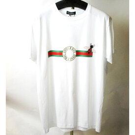 chill&buy street チル&バイ 2020SS Tシャツ パロディーTシャツ スペイン製 セレブレティー 大人可愛い グッチ柄と蜂 グッチシマ メンズ(ユニセックス)サイズ