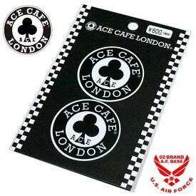 エースカフェロンドン ラウンドロゴ デカールステッカー Ace Cafe London 11ace-n004de