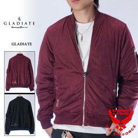 グラディエイト フェイクスウェード MA-1ジャケット メンズ GLADIATE 484072