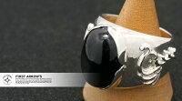 ポイント2倍!!ファーストアローズ浮きカラ草彫り印台リングr-cus-027