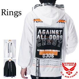 リングス Bigシルエット 裏毛 プルパーカー メンズ RINGS 139214