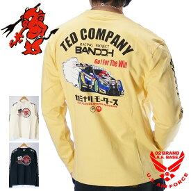 テッドマン カミナリ ウェッズスポーツ コラボ プリント 長袖Tシャツ メンズ TEDMANS KAMINARI WedsSport BANDOH tdkmlt-90
