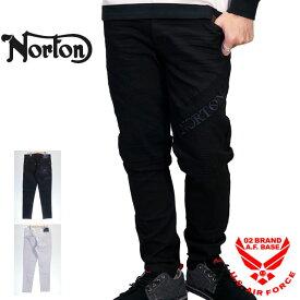 ノートン ロゴ刺繍 ストレッチ スリムライダースパンツ メンズ 新作2020-2021年モデル NORTON 203n1804