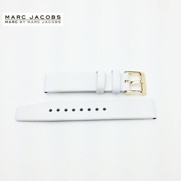 【メール便配送無料】アウトレット品 Marc by Marc Jacobs(マークバイ マークジェイコブス) レザーベルト 革ベルト16mm 幅 16ミリ ヘンリー スケルトン HENRY SKELTON MBM1339 MBM1340 正規品 純正品 ホワイト 白色 ゴールド金具