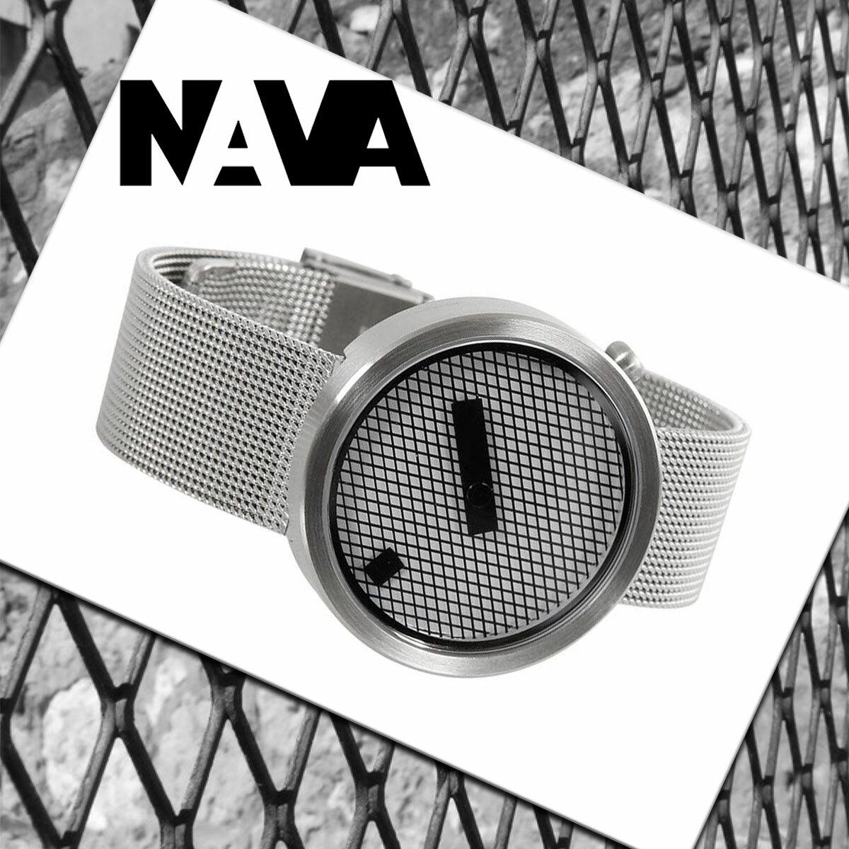 【電池交換無料チケット配布中!!サイズ調整無料】個性を極めた腕時計!! NAVA DESIGN(ナバデザイン)JACQUARD(ジャカード)O605 マットシルバー steel スチール メンズ レディース ウォッチ 男性用 女性用 腕時計 ナヴァデザイン NVA020042【即納】【あす楽】