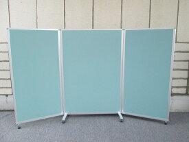 【中古】ITOKI スクリーンパネル Kタイプ H1800 3連 キャスター付き リップルグリーン