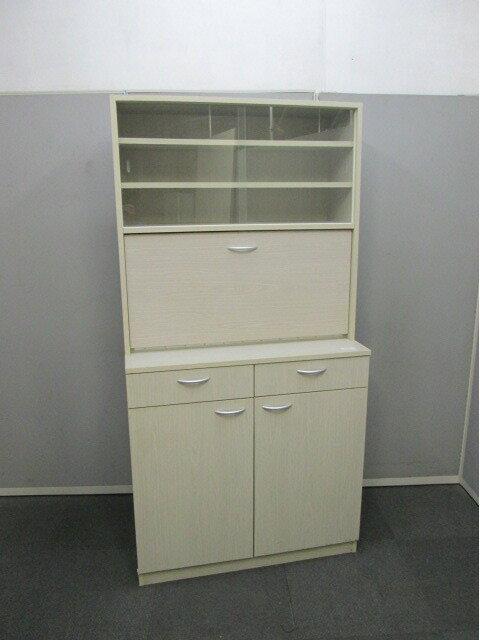 【中古品】プラス キッチンキャビネット 食器棚【中古オフィス家具】