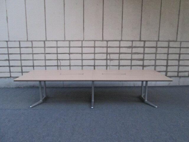 オカムラ RATIO2 幅3600【中古品】長方形 ミーティングテーブル 配線有り