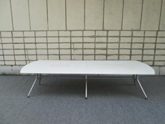 【中古品】イトーキ DD 会議テーブル 天板白 配線対応天板仕様