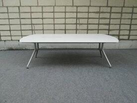 【中古】イトーキ DD 会議テーブル 天板白 配線対応天板仕様 6〜8人用【配送先が指定地域のみの販売】