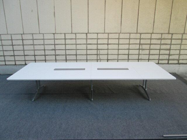 コクヨ 会議テーブル WT-200 W4000 ホワイト【中古品】【中古オフィス家具】