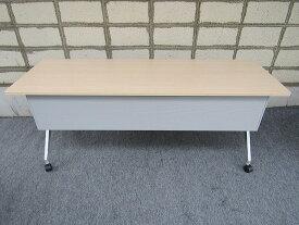 【中古】折り畳み式テーブル コクヨ W1800×D600×H720 棚無し【配送先が指定地域のみの販売】