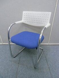 【中古品】vitra VISAVIS 会議用チェア スタッキング 【 ホワイト×ブルー】