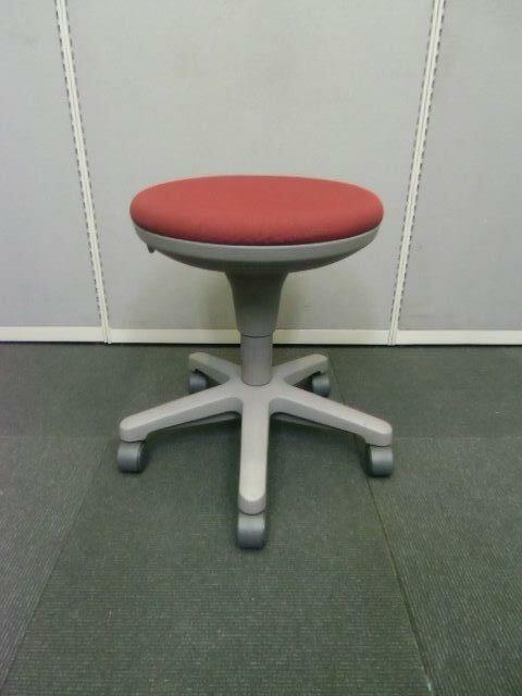オフィスチェア【中古品】丸椅子 ITOKI サポートツール ブラック