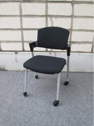 【中古】スタッキングチェア【コクヨ】会議椅子ブラック