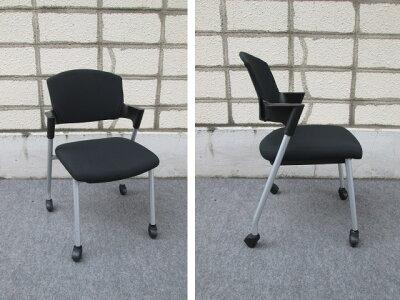 スタッキングチェア【中古】【コクヨ】会議椅子ブラック