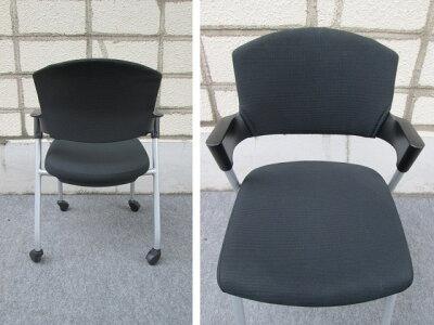 スタッキングチェア【コクヨ】【中古】会議椅子ブラック