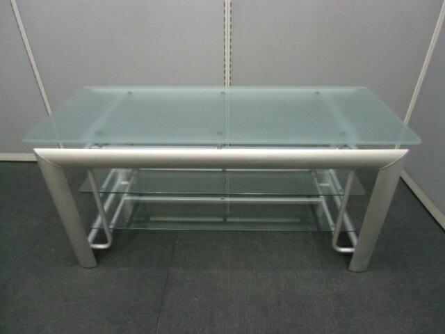 【中古】ガラステーブル 多目的台 TV台