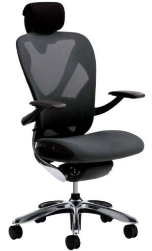 オフィス家具 稲葉製作所 Xairチェア ヘッドレスト付タイプ