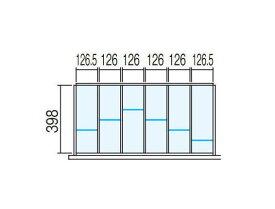 壁面収納ユニット用 ラテラル オプションパーツ【仕切り板セット】INABA Line Unit TF【W900×D450用 6分割タイプ】