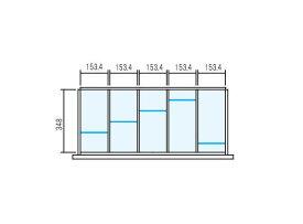 【W900×D400用 5分割タイプ】ラテラル【オプションパーツ】仕切り板セット INABALine Unit TF 壁面収納ユニット用