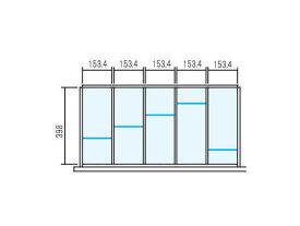 Line Unit TF ラテラル オプションパーツ【仕切り板セット】INABA 壁面収納ユニット用【W900×D450用 5分割タイプ】