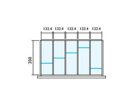 仕切り板セット ラテラル【オプションパーツ】INABA Line Unit TF 壁面収納ユニット用【W800×D450用 5分割タイプ】