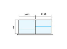 INABA ラテラル【オプションパーツ】仕切り板セット Line Unit TF 壁面収納ユニット用【W900×D400用 2分割タイプ】