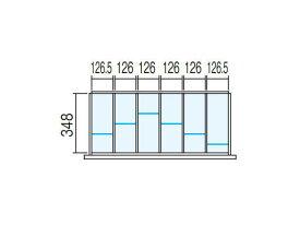 ラテラル オプションパーツ【仕切り板セット】INABA Line Unit TF 壁面収納ユニット用【W900×D400用 6分割タイプ】