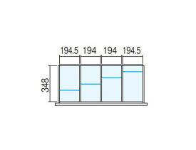 壁面収納ユニット用 ラテラル【オプションパーツ】仕切り板セット INABA Line Unit TF【W900×D400用 4分割タイプ】