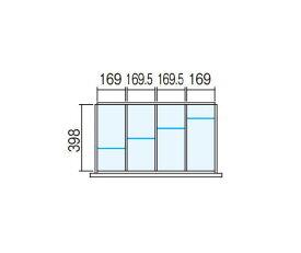 【オプションパーツ】ラテラル 仕切り板セット INABA Line Unit TF 壁面収納ユニット用【W800×D450用 4分割タイプ】