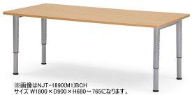 アイコ NJTテーブル 会議用テーブル 塗装脚タイプ W900×D900