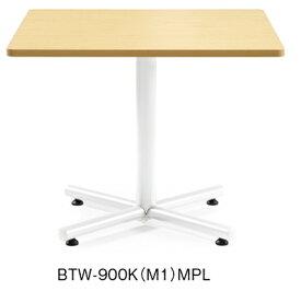 アイコ BTWテーブル 会議用テーブル シルバー塗装 H720mmタイプ W900×D900