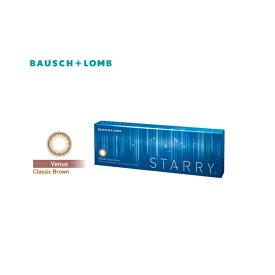 ボシュロム スターリー ワンデーカラコン Venus/クラシックブラウン ダークブラウンで+ライトブラウンでつくる大人ハーフカラコン 10枚 DIA14.0mm(ナチュラルカラコン)(ハーフカラコン)カラコンスターリー カラコン