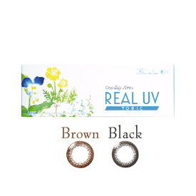 乱視用カラコン サークルレンズ REAL UV ブラウン/ブラック 1箱10枚 着色部外径13.0mm 含水率42.5% なめらかな付け心地 リアルUV ワンデーアイレリアルUVトーリック(乱視用カラコン)(トーリック)(乱視 使い捨て)度ありカラーコンタクトレンズ