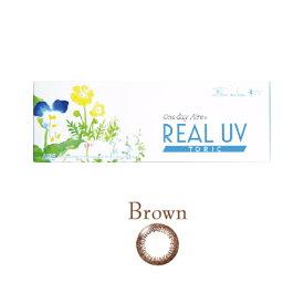 乱視用カラコン サークルレンズ REAL UV /ブラウンサークル/ 1箱10枚 着色部外径13.0mm 含水率42.5% なめらかな付け心地 リアルUV ワンデーアイレリアルUVトーリック(乱視用カラコン)(トーリック)(乱視 使い捨て)度ありカラーコンタクトレンズ