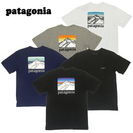 【あす楽】 Patagonia Men's Line Logo Ridge Pocket Responsibili-Tee / 38441 / TEE / T-SHIRT / パタゴニア Tシャツ / ライン ロゴ リッジ ポケット レスポンシビリティー