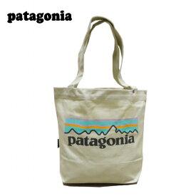【あす楽】 Patagonia Mini Tote / パタゴニア ミニ トート バッグ / トートバッグ / メンズ / レディース / ユニセックス / Pastel P-6 Logo : Bleached Stone 59275