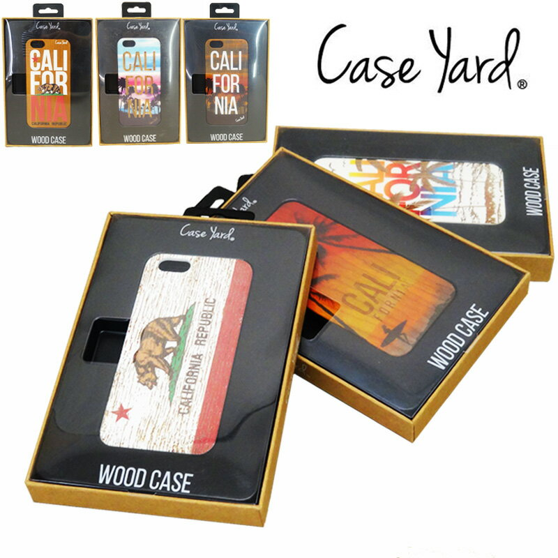 【あす楽】Case Yard (ケースヤード) WOOD CASE / CALIFORNIA / カリフォルニア / SURF / サーフ / ロサンゼルス / ウッドケース - iPhone6/6S / アイフォン6/6S ケース / iPhoneケース / 表(木製)裏(ポリカーボネート)