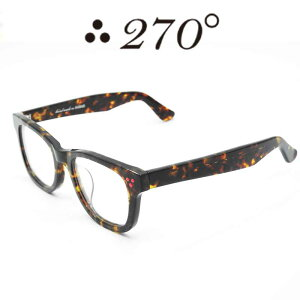 【あす楽】 270°メガネ / two-seventy degrees / 眼鏡 / 伊達メガネ / サングラス / ウエリントン / LAX-BRNDEMI-CLR-RED / 専用ケース付 /【送料無料】