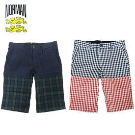 あす楽【50%OFF】NORMAN Two Tone Check Short Pants / ノルマン / ツートン チェック ショート パンツ / メンズ ショート パンツ / 馬場圭介様 / NOR-0009