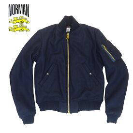 あす楽【50%OFF】NORMAN Lamb Tas Hard Melton MA-1 Jacket / アウター / ノルマン / 馬場圭介様 / NOR-0053