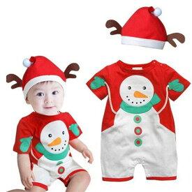 ホビー コスプレ 変装・仮装 コスチューム一式 ロンパース 帽子 クリスマス スノーマン ベビー 子供 男の子 女の子 ニューボーンフォト